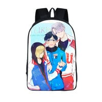 Anime YURI on ICE School Backpack For Teenage Girls Boys Children School Bags Plisetsky Women Men Travel Bag Casual Backpack