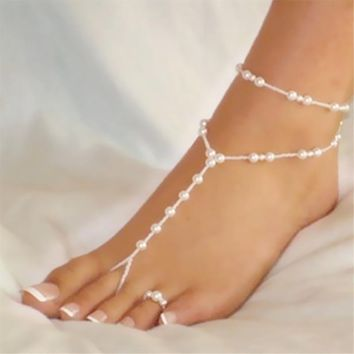 Pearly Barefoot Sandal Anklet