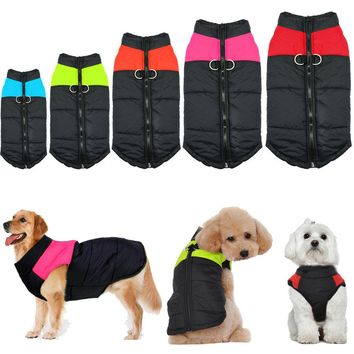 Winter Warm Dog Clothes For Small Dogs Waterproof Pet Vest Jacket Coat For Chihuahua Large Dogs roupas para cachorro S to 5XL