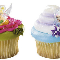Disney Fairies Tinkerbell and Periwinkle Cupcake Rings