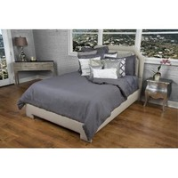 Rizzy Home 1 Piece Duvet Cover In Charcoal And Charcoal