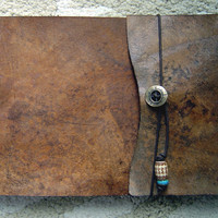 Artist's Leather Sketchbook  Ancient Brown by ZenfishLeather