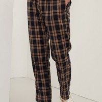 Loose Plaid Pant
