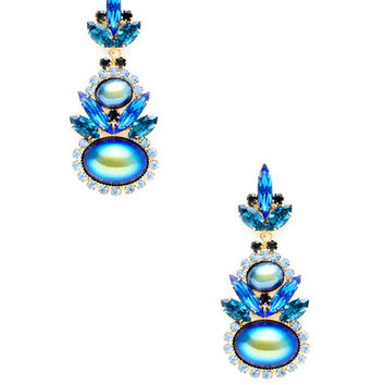 Oval Drop Earrings by Elizabeth Cole at Gilt
