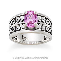 Adoree Ring with Pink Sapphire from James Avery