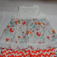 Baby Girl Clothes - Outfit  for Baby Girl -. Baby Summer Wear - Song Birds