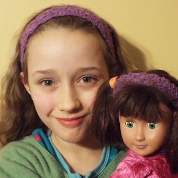 Party Favors for American Girl Doll Party - Matching Girl and Doll Headbands - set of 6 pairs