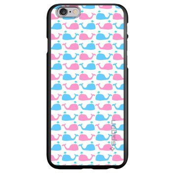 DistinctInk® Spigen ThinFit Case for Apple iPhone or Samsung Galaxy - Blue Pink Cartoon Whales