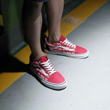 spbest Vans x Supreme x The North Face  Red  Tmall Original