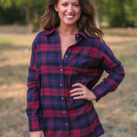 Boyfriend Flannel - Red