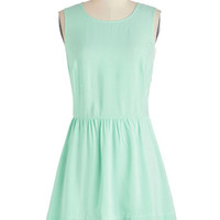 Jack by BB Dakota Pastel Short Sleeveless A-line Just Mint to Be Dress