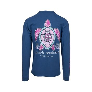 "Simply Southern ""Princess Turtle"" Long Sleeve Tee"
