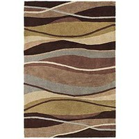 Pier 1 Imports - Product Detail - Blue & Brown Wavy Stripe Rug