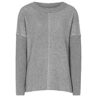 Buy Reiss Cara Metallic Cable Knit Jumper, Grey | John Lewis