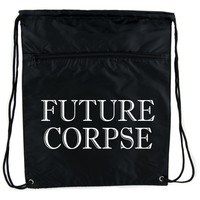 Future Corpse Cinch Bag Drawstring Backpack Goth Funeral Cemetery