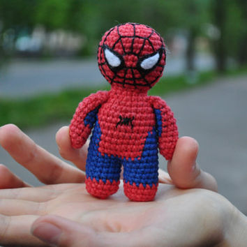 Crochet Spiderman / Civil War toy / Avengers toy / Marvel toy / Superheroes toy / Spiderman amigurumi