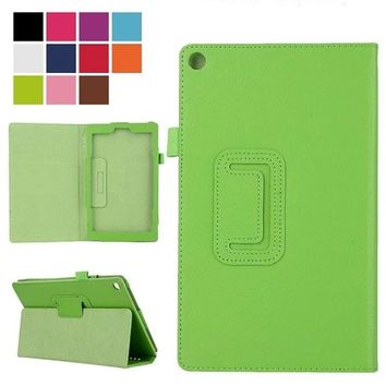 Tablet Case For Amazon new Fire 7 2015 Leather Stand Smart Case Cover For New kindle fire 7 2015 para e-Book Cases