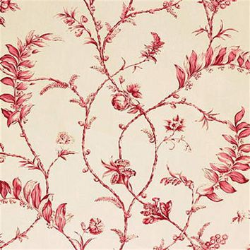 G P & J Baker Fabric A1039.1 Solomon's Seal Red