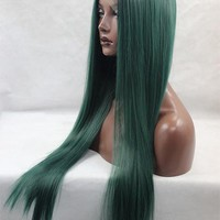 Women HAIR SW Colorful Long Straight Synthetic Lace Front Wig
