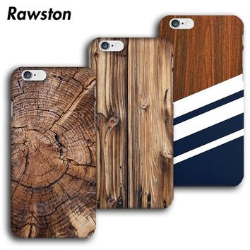 Wood Case Bamboo Wooden Pattern Phone Cases Cover for iPhone 8 7 6s 6 Plus 5s 5 Snap On Hard Plastic Capa Para for iPhone Case