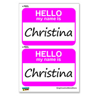 Christina Hello My Name Is - Sheet of 2 Stickers
