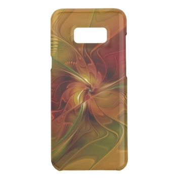 Abstract Red Orange Brown Green Fractal Art Flower Get Uncommon Samsung Galaxy S8 Plus Case