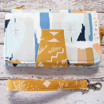 Wallet Clutch - Bifold Wallet - Wristlet Wallet Clutch, Ready To Ship
