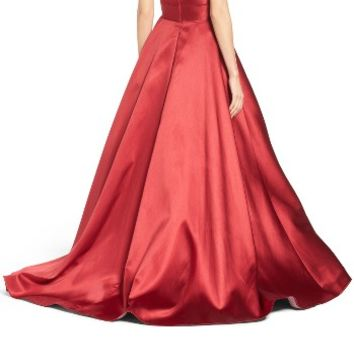 Ieena for Mac Duggal Plunging Sweetheart Neck Ballgown | Nordstrom