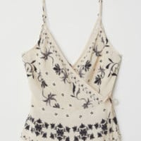 Wrapover Camisole Top - from H&M