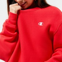 Champion & UO Crew-Neck Cropped Sweatshirt | Urban Outfitters