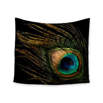 "Alison Coxon ""Peacock Black"" Wall Tapestry"