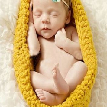Yellow Newborn Baby Knit Cocoon Newborn Prop - CCC232