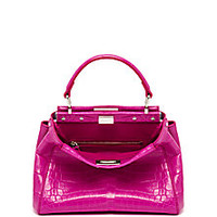 Fendi - Peekaboo Mini Crocodile Satchel - Saks Fifth Avenue Mobile
