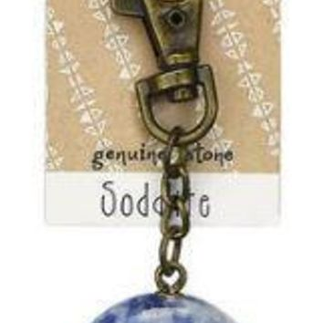 Sodalite Wish Stone Key Chain