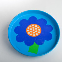 Laurids Lonborg tray flower metal tray Lena and Al Eklund – Danish Mid-Century design