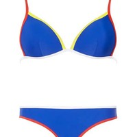 *Blue Piped Detail Bikini Top - View All Sale - Sale & Offers