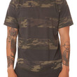 The Curved Hem Tall Tee in Camo