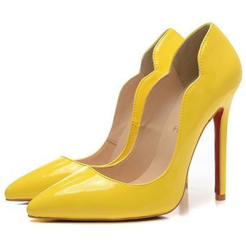 Christian Louboutin Fashion Edgy Pointed Heels Shoes-3