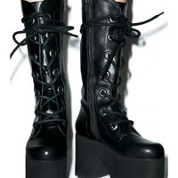 Y.R.U. Forest Platform Boots | Dolls Kill
