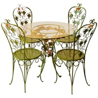 Polychrome Tole Patio Set
