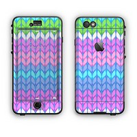The Bright-Colored Knit Pattern Apple iPhone 6 LifeProof Nuud Case Skin Set