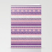 purple craze; Stationery Cards by Pink Berry Patterns