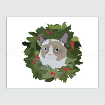 Grumpy Cat Printable Christmas Card