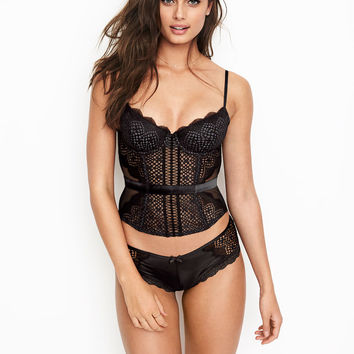 Lace & Mesh Bustier - Very Sexy - Victoria's Secret