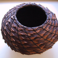 CHRISTINE ADCOCK Torrey Pine Needle Basket by Smithsonian-awarded craftswoman