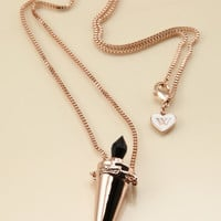 ROSE GOLD POISON VIAL NECKLACE at Wildfox Couture in  - ROSE GOLD PLATED