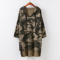 Slim Hoodies Pullover Camouflage Hats [9101526023]