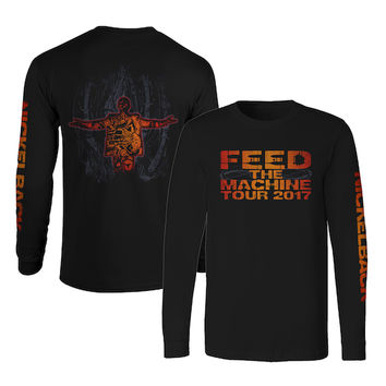 Nickelback Official Store | Feed The Machine Long Sleeve Tee