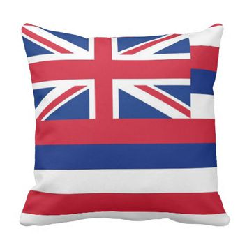 Hawaii State Flag American MoJo Pillow