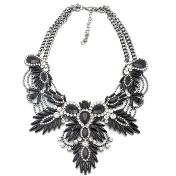 Kalista Statement Necklace - Black